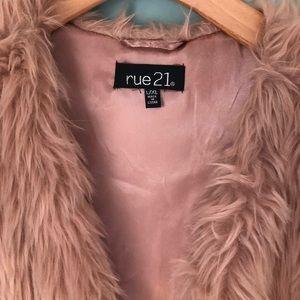 Faux pink vest
